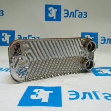 Теплообменник ГВС 12 пластин 4 фланца для котлов Daewoo DGB 100-200 MSC, 110-160 MCF